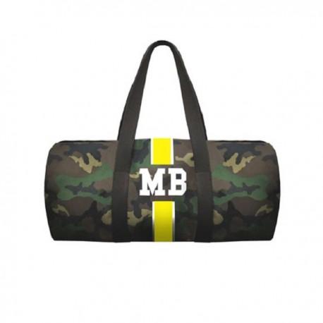 Maskáčová taška unisex - válec - žlutý pás