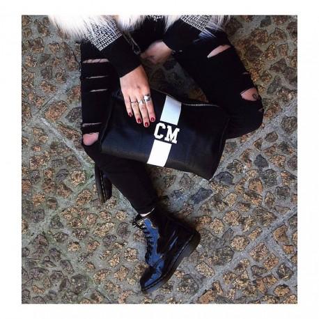 Kosmetická taška černá Mia Bag - různe barvy pásu