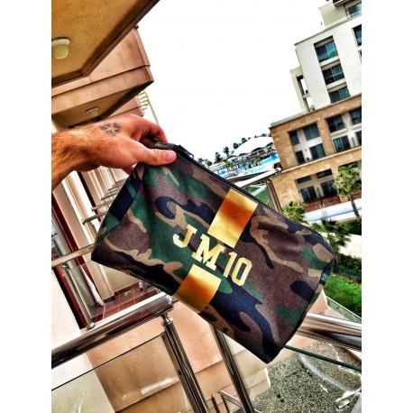 Kosmetická Army taška (unisex) - zlatý pás