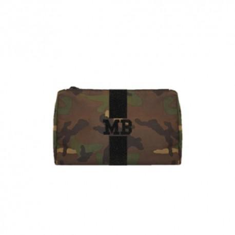 Kosmetická Army taška (unisex) - černý glitter pás