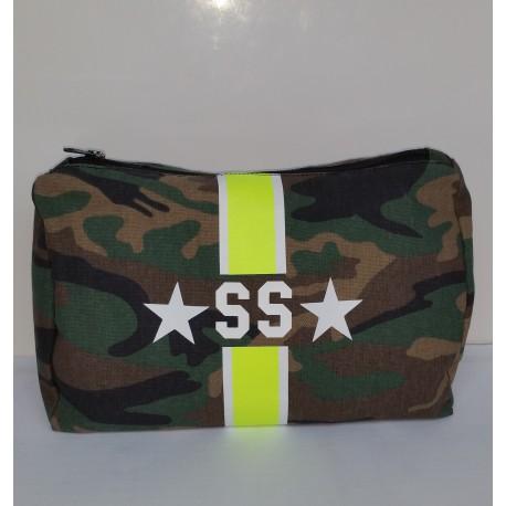 Kosmetická Army taška (unisex) - žlutý pás