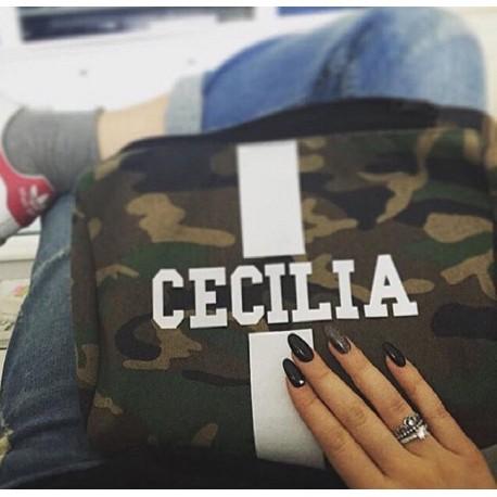 Kosmetická Army taška (unisex) - bílý pás