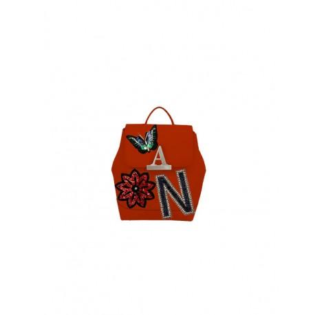 Luxusní kožený baťoh s nášivkami Mia Bag