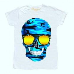 Tričko s modrou lebkou