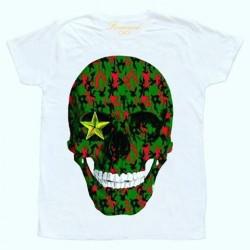 Tričko se zelenou lebkou