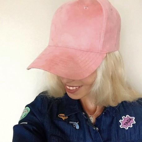 Kšiltovka BFAM semišová -růžová