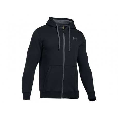 UNDER ARMOUR - Rival Fitted Full Zip - černá