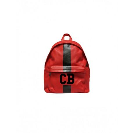 Červený kožený baťoh Mia Bag