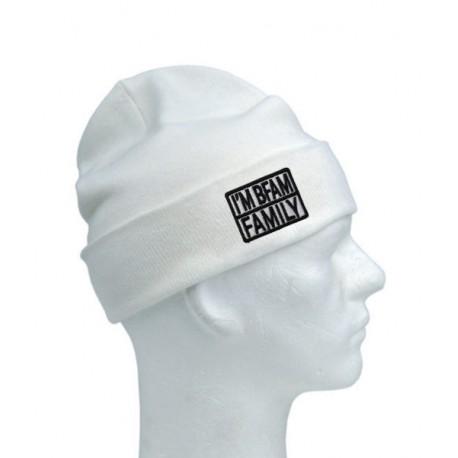 Unisex beanie čepice - bílo-černá