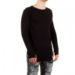 Pánské černé tričko s dlouhým rukávem
