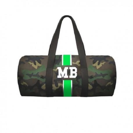 Maskáčová taška - válec - zelený pás