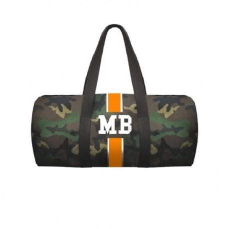 Maskáčová taška - válec - oranžový pás