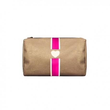 Kosmetická zlatá taška Mia Bag - různe barvy pásu