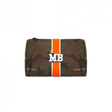 Kosmetická Army taška (unisex) - oranžový pás