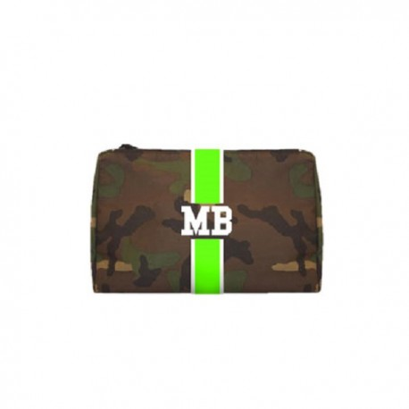 Kosmetická Army taška (unisex) - zelený pás