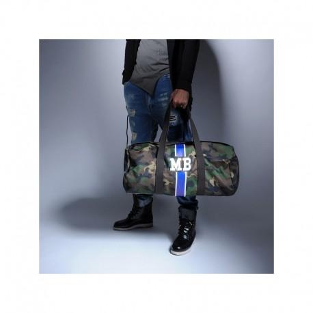 Army  maskáčová taška - válec modrý pás