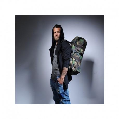 Army maskáčová taška - válec černý pás