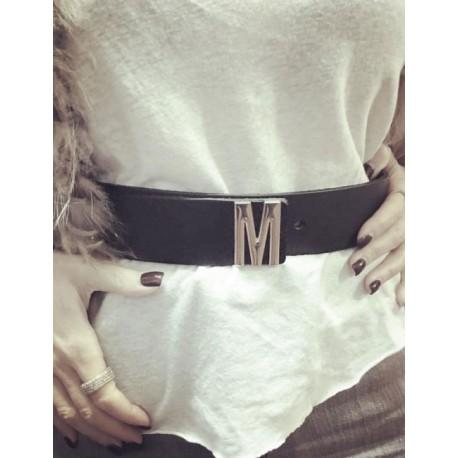 Kožený pásek s písmenkem Mia Bag