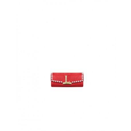 Mia Bag - Dámská kožená peněženka Kim s perlami