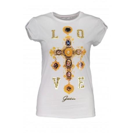 Dámské luxusní tričko GUESS - bílé