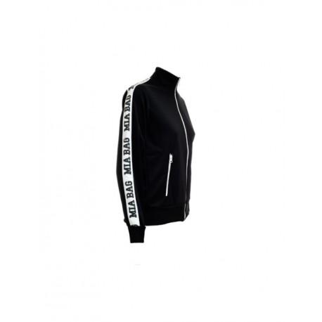 MIA BAG - Mikina na zip - černá, bílá