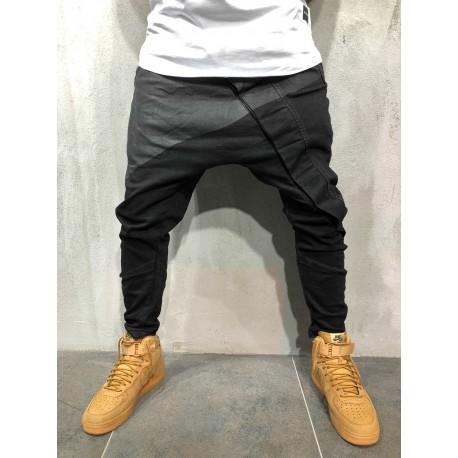 Pánské džíny s nízkým sedem - černé