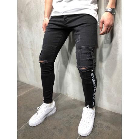 Pánské perfektní černé džíny