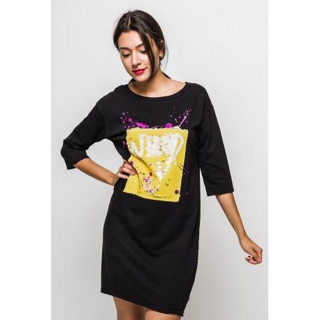 Dámské prodloužené tričko/šaty WHO - 3 barvy