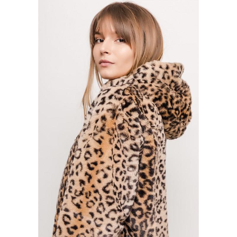 ... Dámský kožešinový kabát s kapucí ... 9fee85c9940